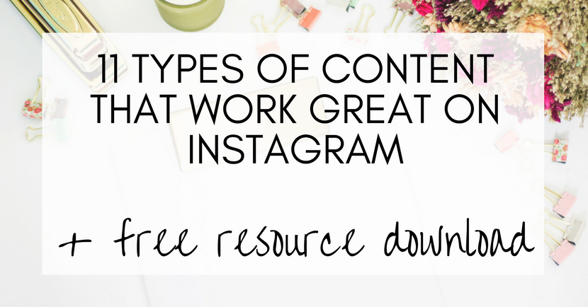 Some useful ideas here: Types of content that work well on Instagram, content planning, strategy, inspiration, ideas
