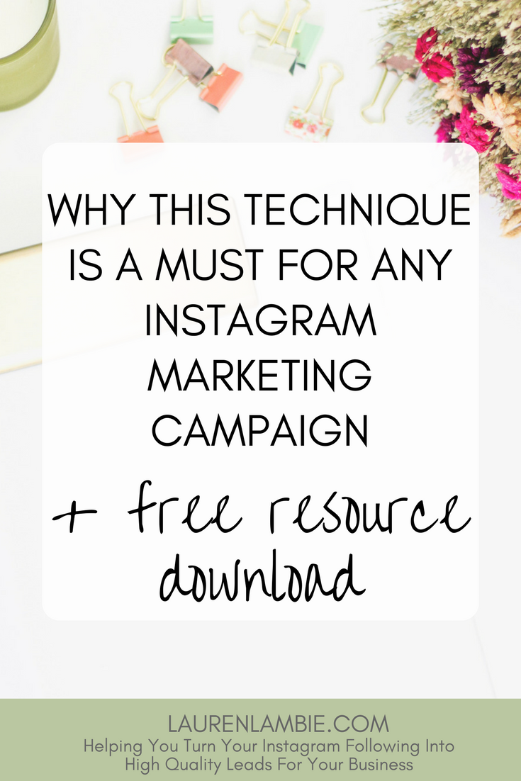 A must-use technique for your Instagram marketing campaigns, tips, strategy, growing an instagram account, instagram for bloggers