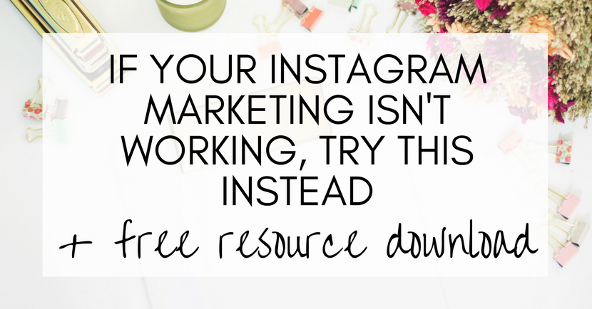 If your Instagram marketing efforts aren't working for you, give this a try instead. Instagram marketing, growing an instagram account, tips. ideas, strategy