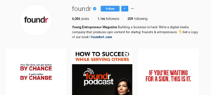 foundr instagram following