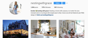 nestingwithgrace instagram following