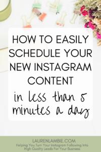 new instagram content