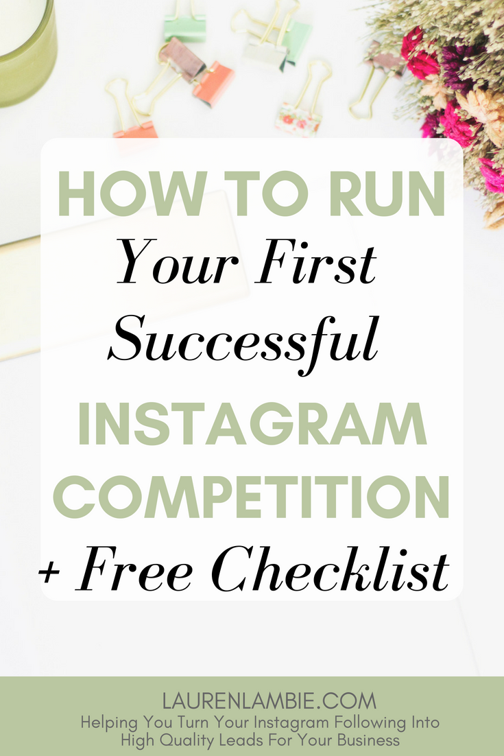 Running a competition on Instagram is a fantastic way to boost your brand and build your email list, but if you've never done it before it can be a little daunting. Here's a easy to follow guide on running your first competition successfully and smoothly #instagram #competitions #marketing
