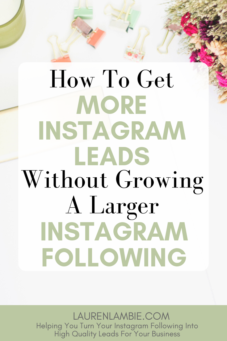 Struggling to grow your Instagram following? Fear not. There's an alternative - and better - way to get more leads for your coaching business without having thousands of Instagram followers #socialmediamarketing #instagrammarketing #coachingbusiness