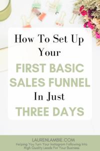 basic sales funnel