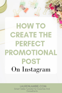 instagram promotional post