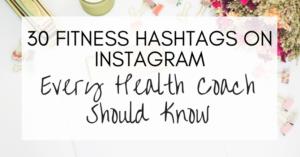 fitness hashtags on instagram